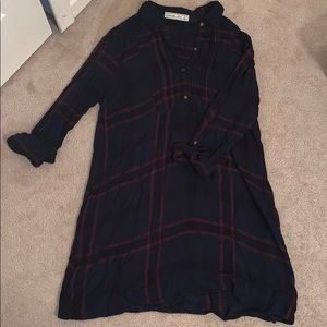 Abercrombie flannel shift dress